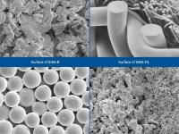 SEM view sintered porous metal products