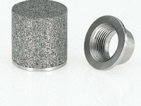 sintered metal cup with non porous connection