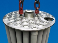 filter bundle with tube sheet, nuclear industry